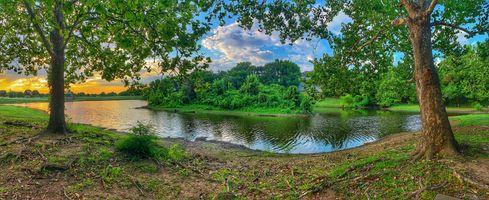 Заставки Оклахома, Minshall Lake, лето