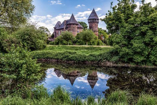 Фото бесплатно Замок Линн Крефельд, АО Дюссельдорф, водоём