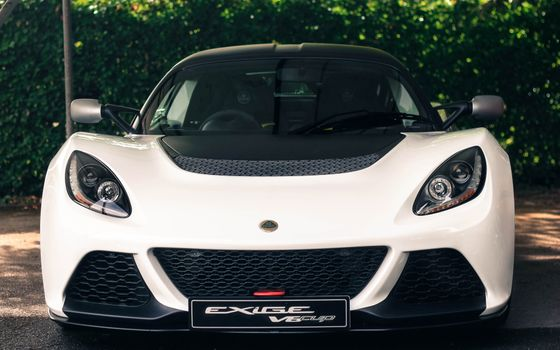 Photo free view from front, white, supercars