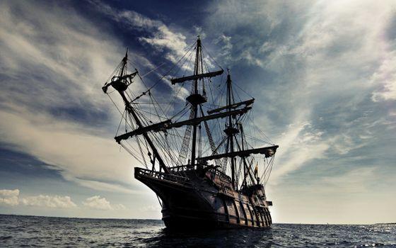 Фото бесплатно океаны, пират, корабль
