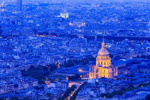 Photo free city, France, night city