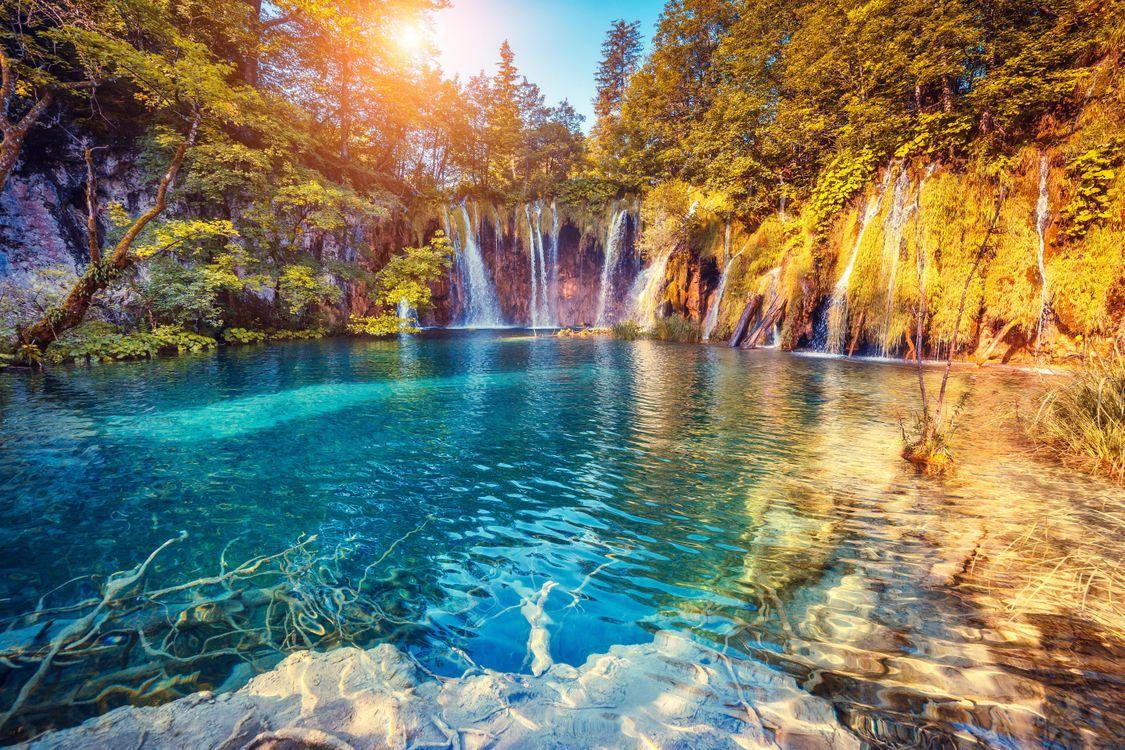 Фото бесплатно Plitvice Lakes, National Park, Croatia, пейзажи