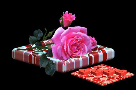 Бесплатные фото Поздравления с днем Святого Валентина,открытка,роза цветок,сердечки,праздники