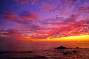 Вечерний морской пейзаж