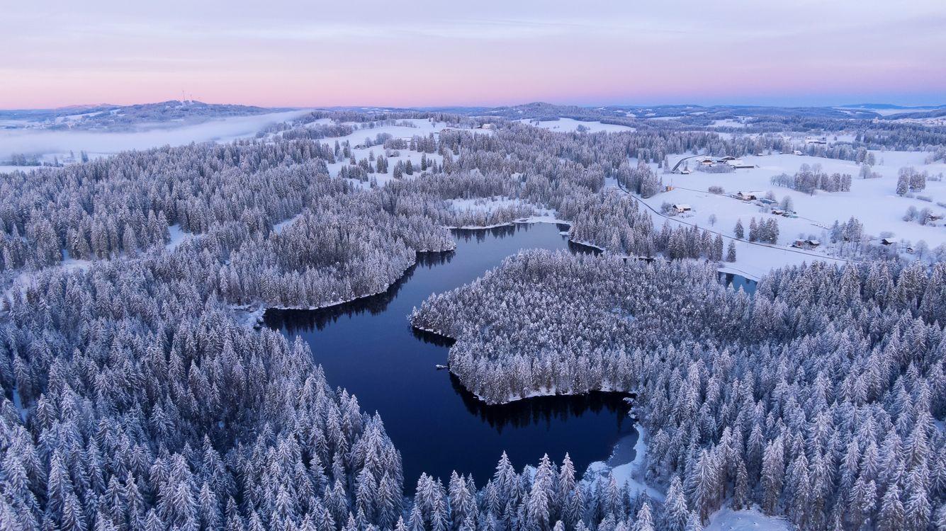 Зима в Франш-Монтань Швейцария · бесплатное фото