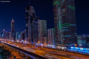Фото бесплатно ОАЭ, освещение, Ночной город