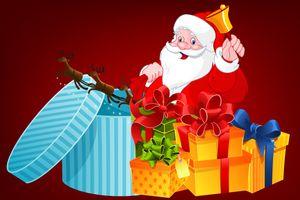 Фото бесплатно Рождественские украшения, дизайн, Санта-Клаус