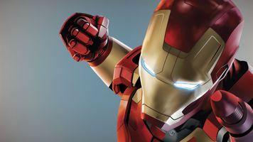Заставки Железного человека, кулак, нано костюм