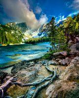 Бесплатные фото Rocky Mountain National Park,Dream Lake,озеро,горы,деревья,скалы,пейзаж