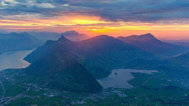 Фото бесплатно Озеро Люцерн, Швейцария, Фирвальдштетское озеро