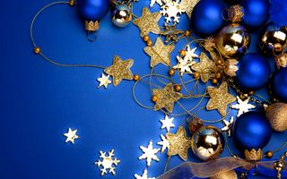 Заставки Рождество, шарики, звездочки