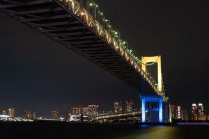 Заставки Япония Токио, мост, человек сделал