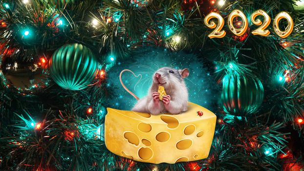 Photo free 2020 year of the rat, new year, toys