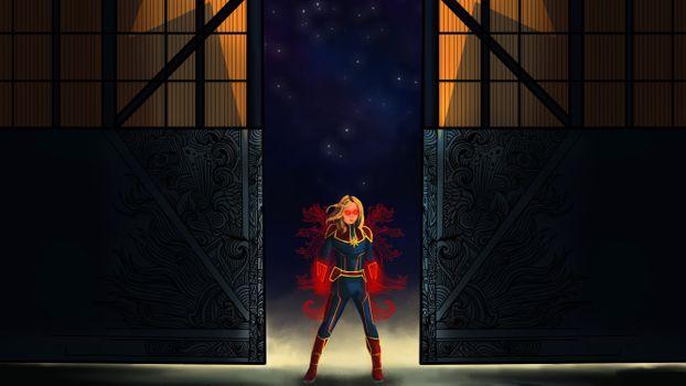 Фото бесплатно Капитан Марвел, Цифровое Искусство, Супергерои