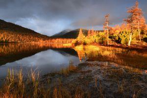 Краски осеннего заката · бесплатное фото