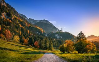 Photo free The fairytale Neuschwanstein castle, Hohenschwangau, Schwangau