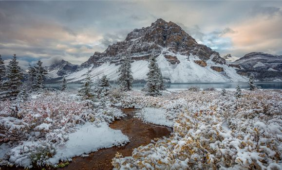 Photo free When Fall, Winter, Bow Lake