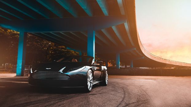 Photo free aston martin, supercars, bridge