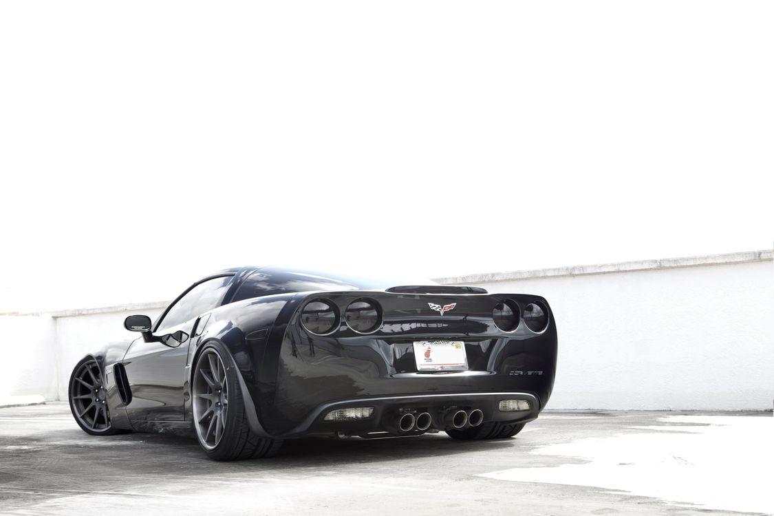 Фото бесплатно Corvette Z06, вид сзади, черный - на рабочий стол