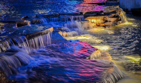 Photo free Night Time Waterfall, night, river