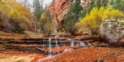 Photo free Archangel Falls, Zion National Park, Utah autumn