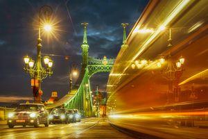 Бесплатные фото Будапешт,Мост Свободы,Дунай,трамвай,Венгрия,Дорога,здание