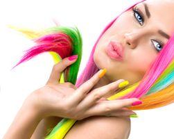 Фото бесплатно девушка, макияж, прическа
