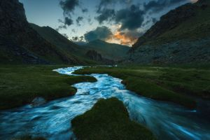 Река Таш-Рабат в Киргизии