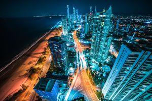 Ночной город в Австралии · бесплатное фото