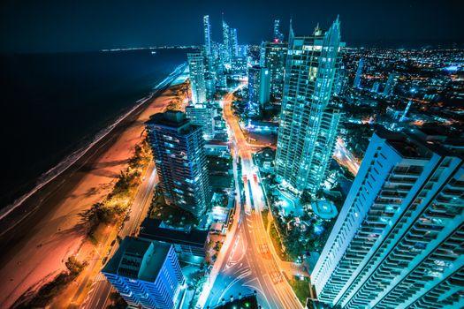 Ночной город в Австралии