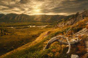 Закат в Тигирекском заповеднике · бесплатное фото