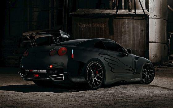 Photo free Nissan GTR, tuning, spoiler