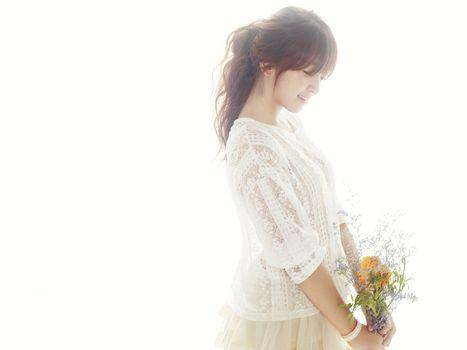 Photo free aoa, chanmi who is a South Korean singer, smiling