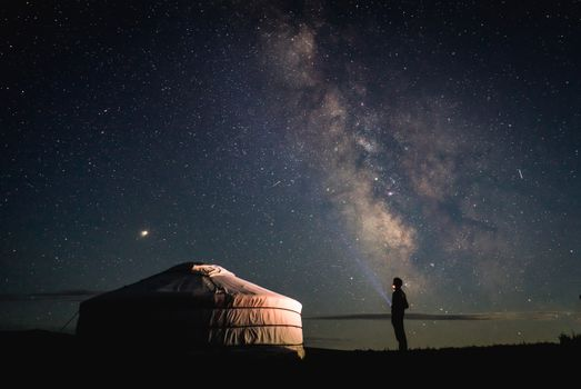 Заставки ночь,молочный путь,звезда,герр,юрта,гоби,степь,монгола