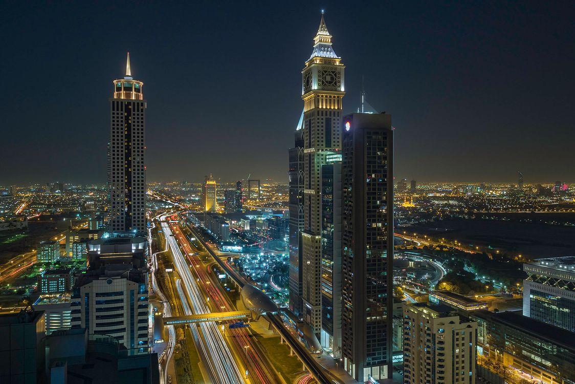 Фото бесплатно огни, освещение, Дубай - на рабочий стол