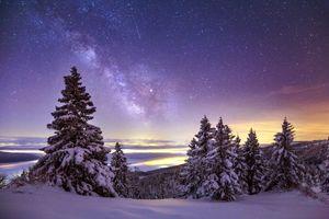 Млечный путь с земли · бесплатное фото