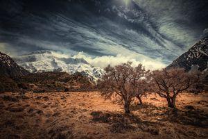 Фото бесплатно Mount Cook, Canterbury, New Zealand