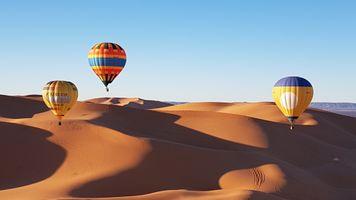 Фото бесплатно воздушные шары, пустыня, глобос