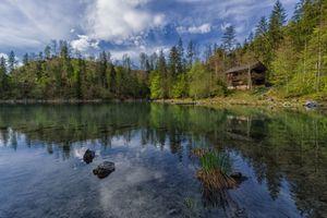 Бесплатные фото Зальцкаммергут,Австрия,дом,озеро,природа,лес,деревья