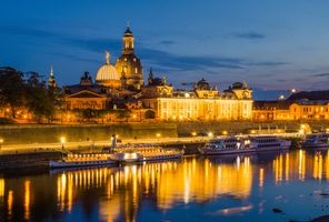 Фото бесплатно Dresden, ночь, фонари