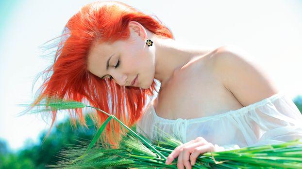 Photo free Viola A, sexy, redhead