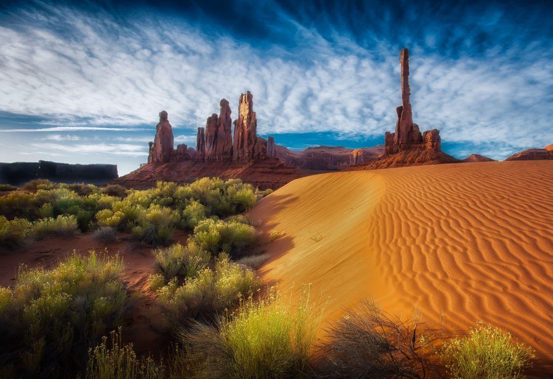 Фото бесплатно пустыня, скалы, облака - на рабочий стол