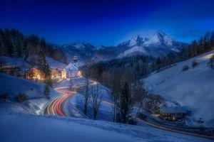 Заставки Berchtesgaden, пейзаж, деревья