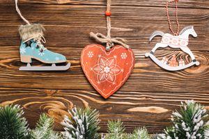 Фото бесплатно сердечко, декор, игрушки, праздник