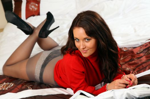 Photo free Zoe Alexandra Brown-Haired Legs, Shoes, Tights