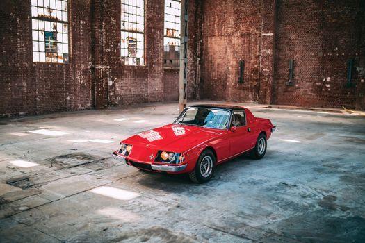Фото бесплатно Ferrari, старинный, красный