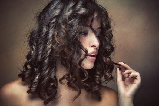Бесплатные фото прическа,макияж,локоны,профиль