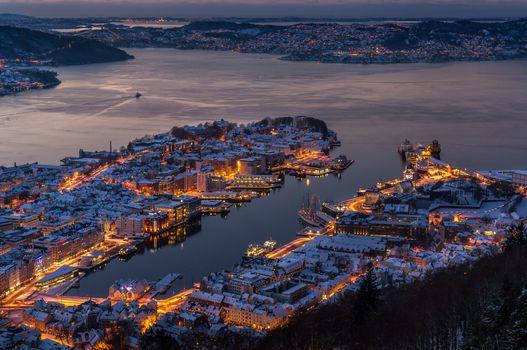 Photo free lights, Norway, Bergen