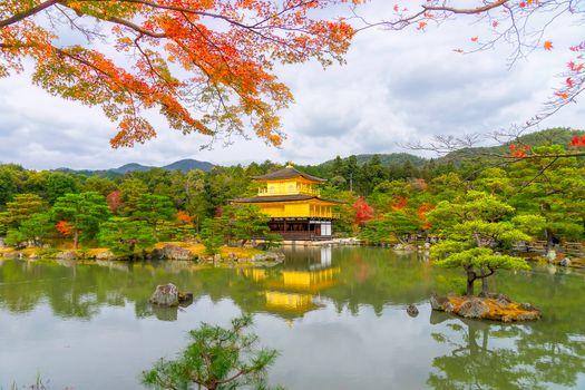 Photo free Kinkakuji Temple, Kinkakuji Golden Pavilion, Japan