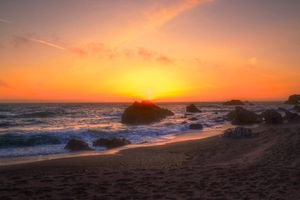 Пейзаж морского берега